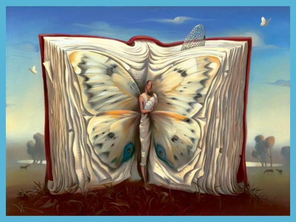 Libro con farfalla libri sull'intelligenza emotiva