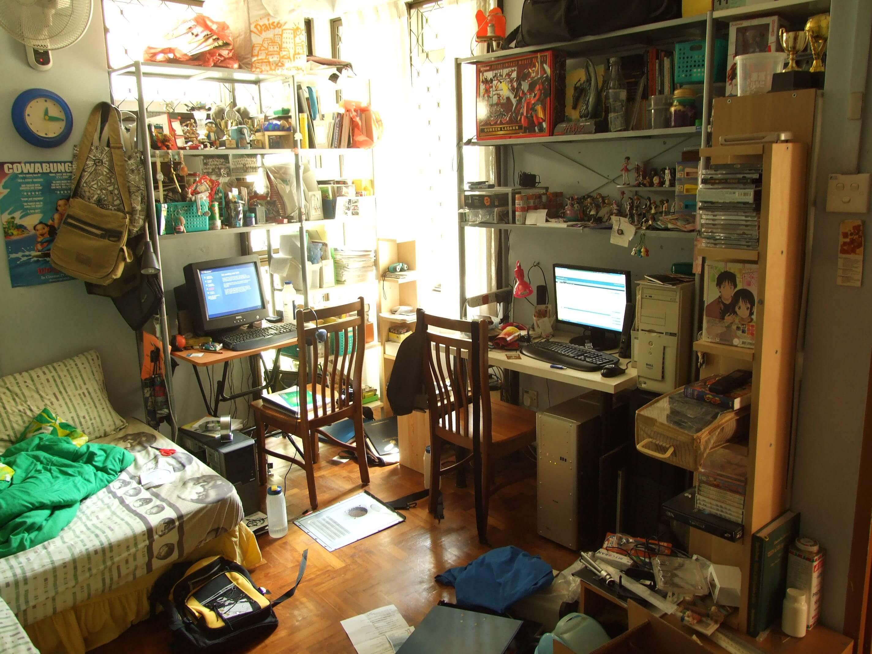 Risultati immagini per Avere un eccesso di oggetti nella stanza, oltre al disordine
