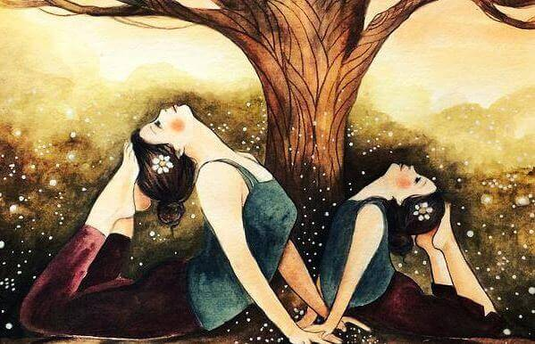 madre, figlia e albero