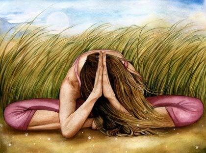 ragazza prega