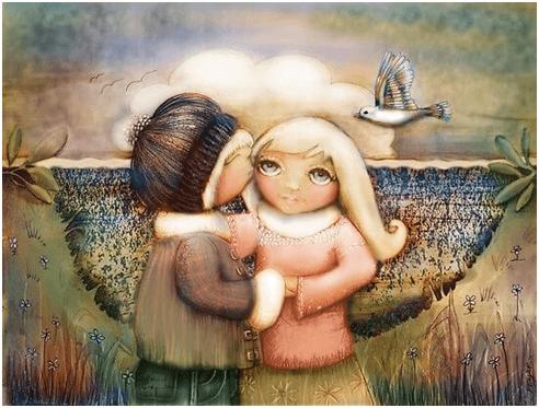 amici abbracciano 2
