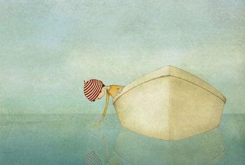 bambino in barca