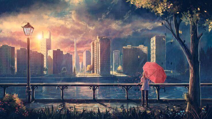 città-tramonto