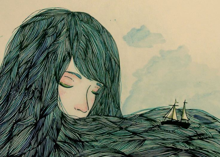 donna con barca nei capelli
