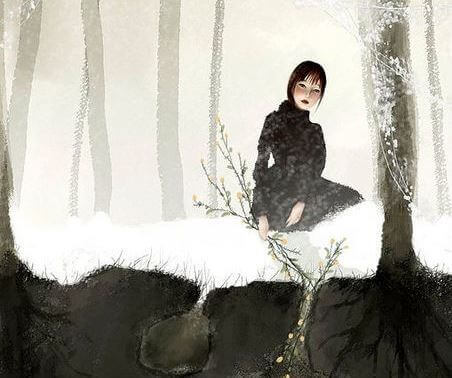 donna-nella-neve
