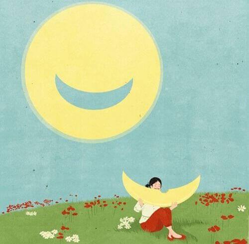 luna che sorride