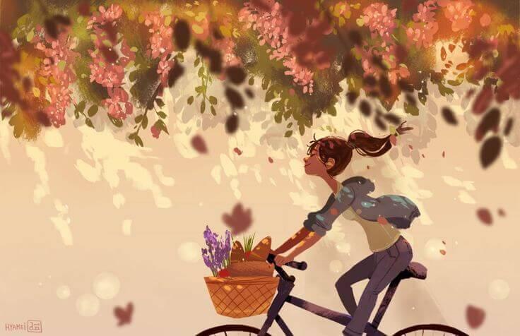 Ragazza-bicicletta