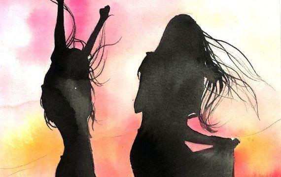 amiche che ballano
