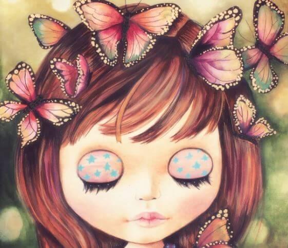 bambina farfalla