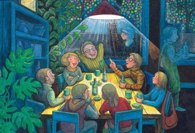 famiglia riunita a tavola