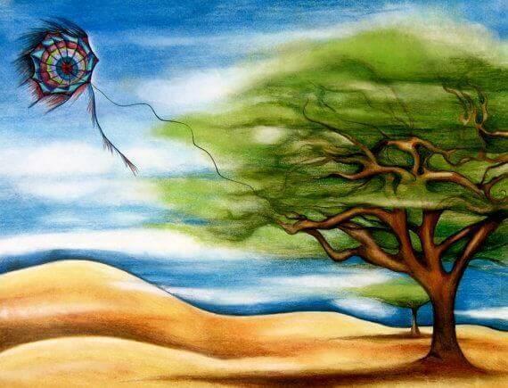 albero e sabbia