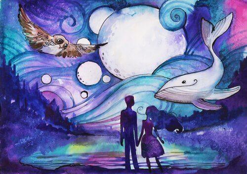 balena, gufo e coppia