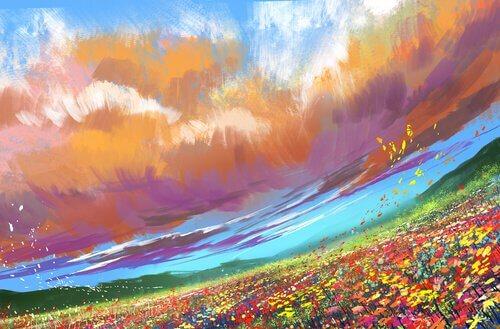 luogo speciale campo con fiori