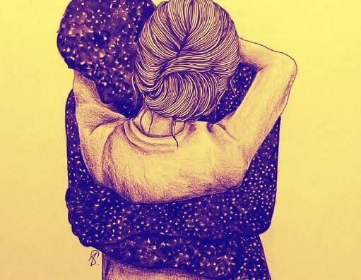 abbraccio caldo