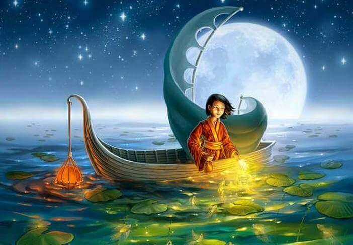 brava persona su una barca
