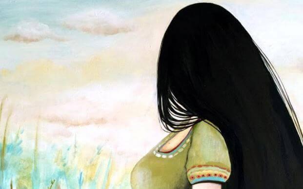 donna che guarda l'orizzonte