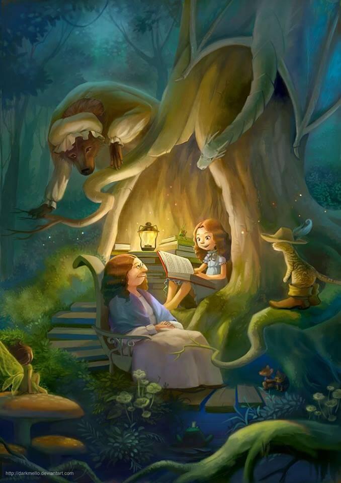 madre e figlia leggendo favole