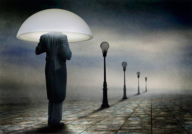 uomo lampione