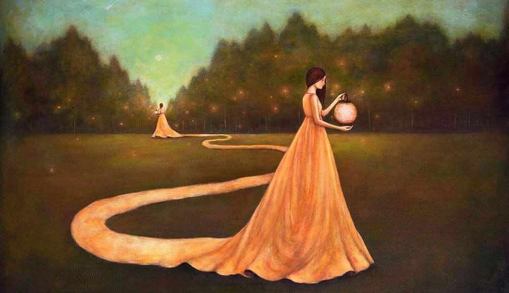 vestito di donna forma la strada