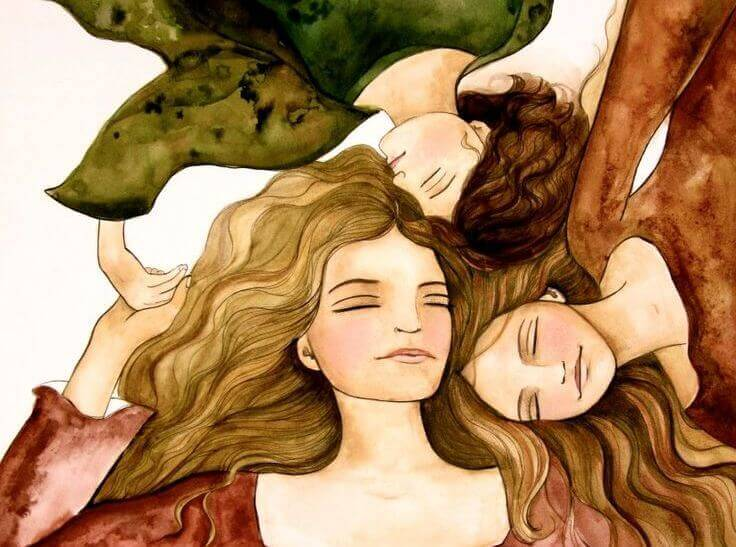 3 donne insieme