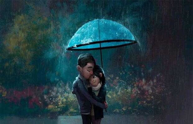 Coppia-pioggia