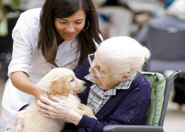 anziana-con-un-cane