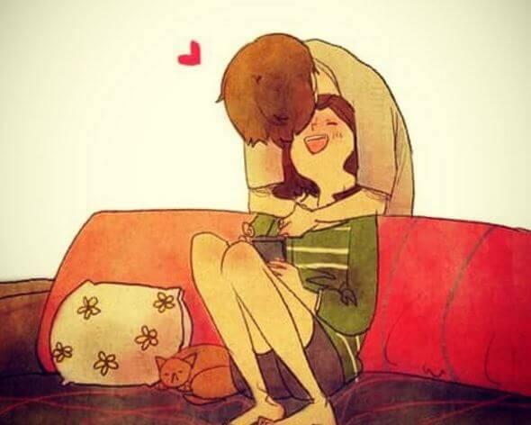 bacio inaspettato coppia