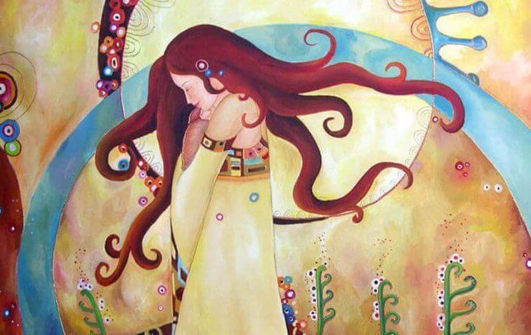 disegno colorato donna