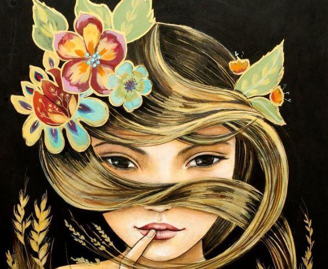 disegno donna bionda