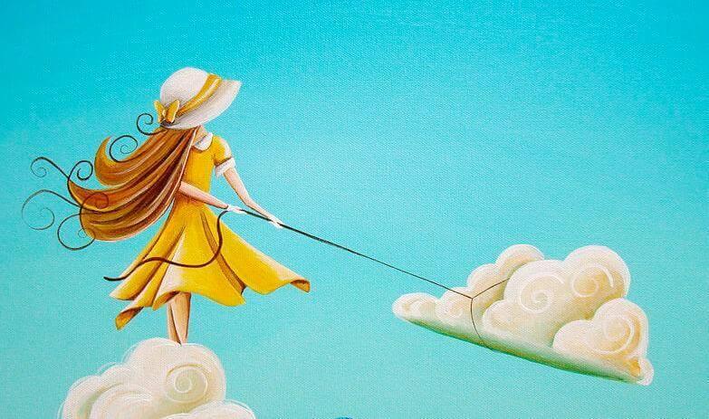 ragazza libera lega nuvola