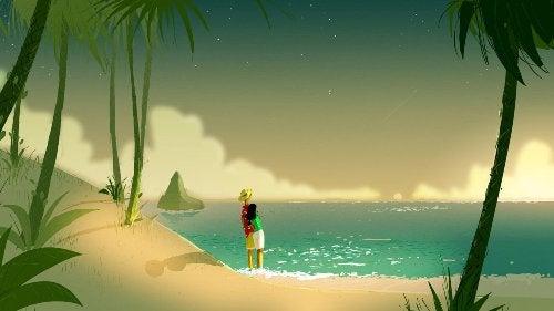 ragazzo sulla spiaggia
