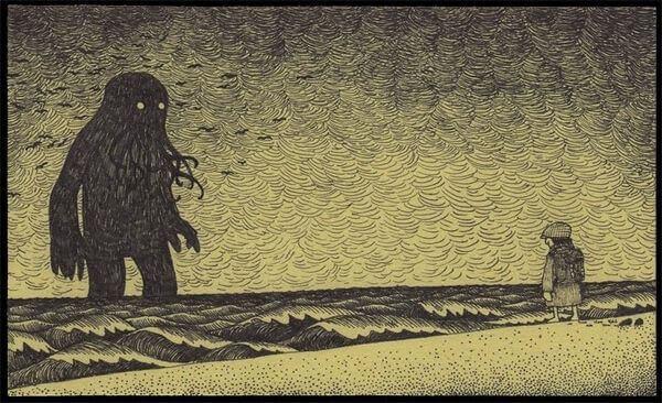 uomo-di-fronte-mostro