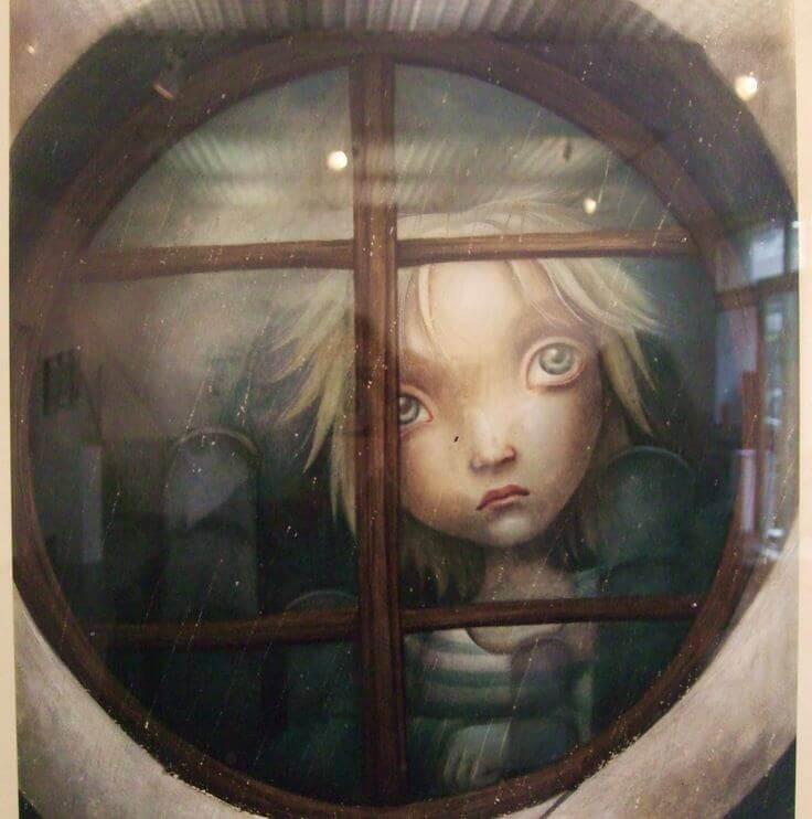 Bambino-triste-alla-finestra