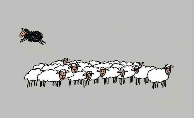 La pecora nera non è cattiva, è solo diversa