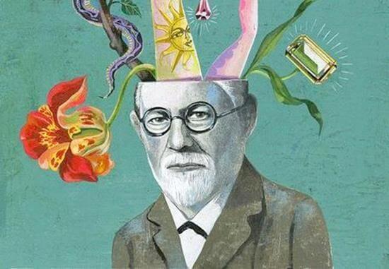 Sigmund Freud idee che escono dalla testa