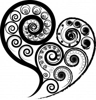 Spirali che formano cuore