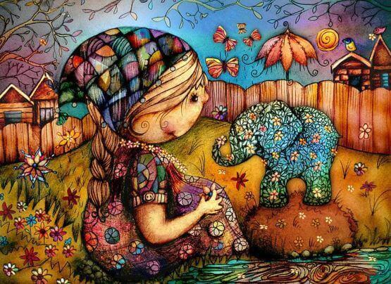 bambina-con-elefante
