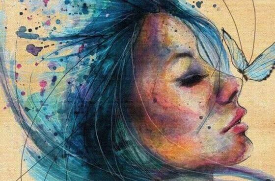 donna-con-capelli-blu
