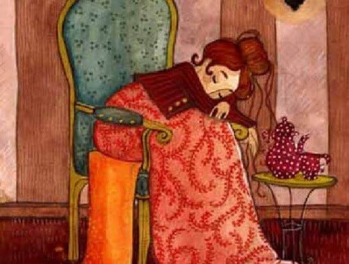 donna-riposando-dopo-una-giornata-di-lavoro-domestico