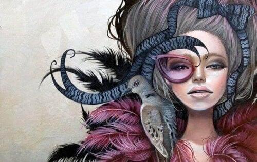 donna-stramba-rappresenta-pecora-nera