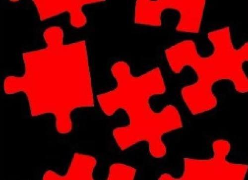 tasselli puzzle rossi