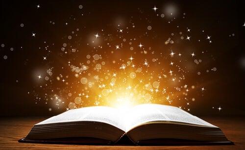 libro aperto emana scintille