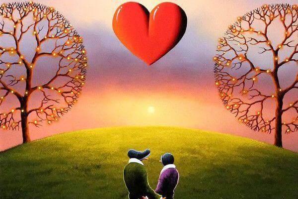 parco e coppia di innamorati