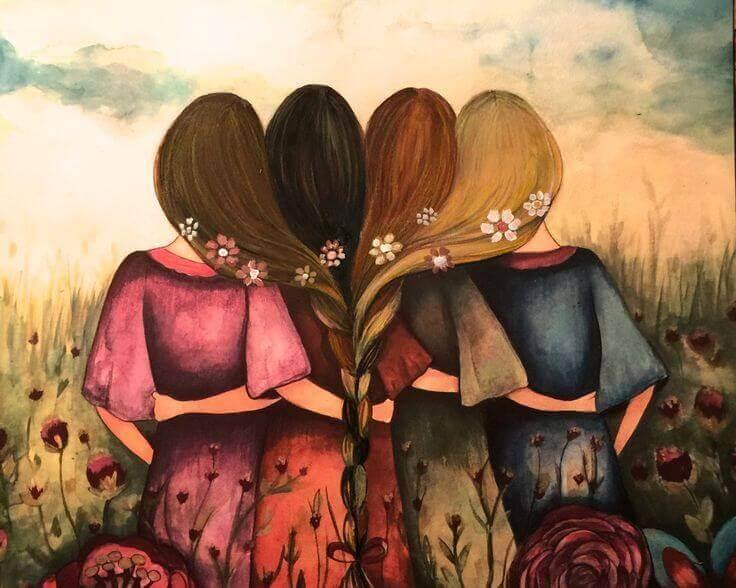 quattro-amiche-che-si-abbracciano