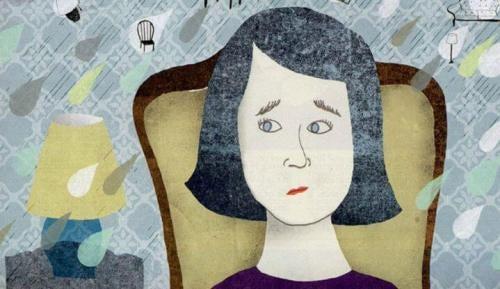 viso di donna preoccupato