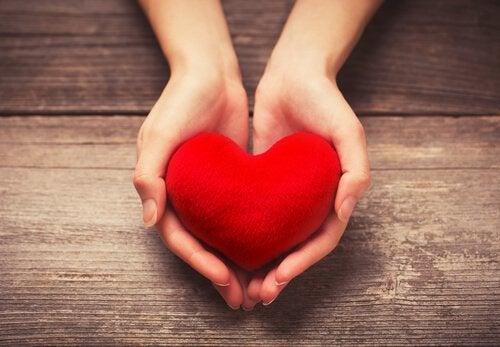 Mani che offrono un cuore