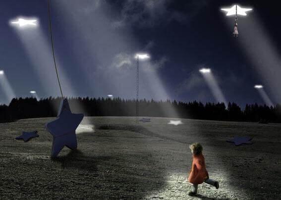 bambina rincorre le stelle