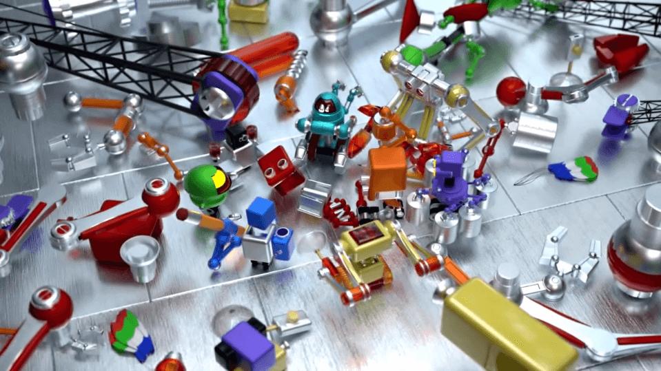 Robot-in-pezzi