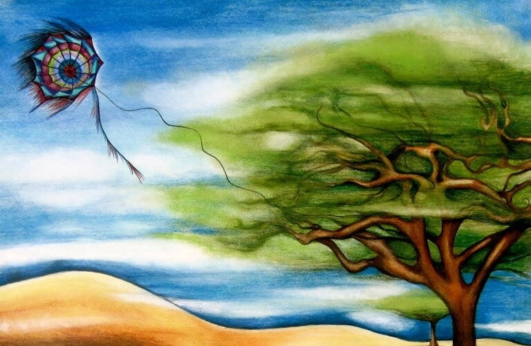 albero al vento