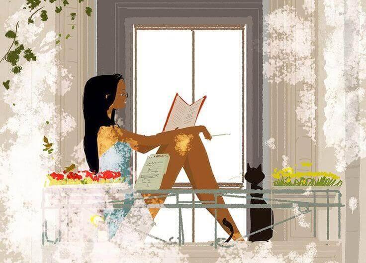 donna-alla-finestra-con-gatto